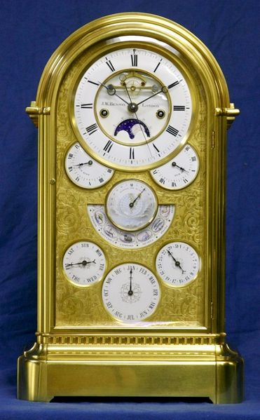 Datei:Astronomical Perpetual Calendar Clock, Achille Brocot-J.W. Benson, London, circa 1870 (1).jpg
